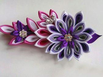 Пример цветка из лент казанши