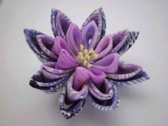 Пример цветка лотос из лент казанши
