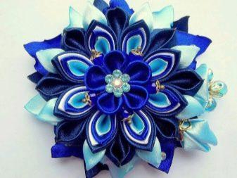 Пример синего цветка из лент казанши