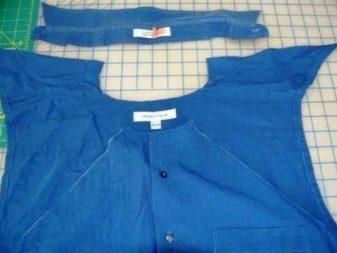 Вырез декольте на мужской рубашке