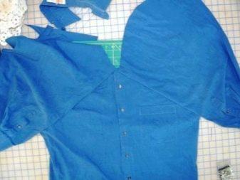 Формирование лифа на платье из мужской рубашки