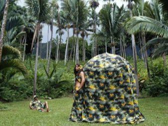 Платье-палатка цветное