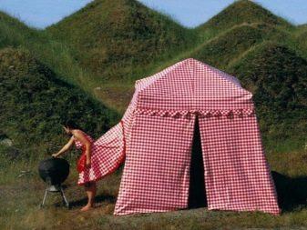 Платье-палатка в клетку