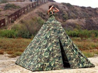 Платье-палатка хаки