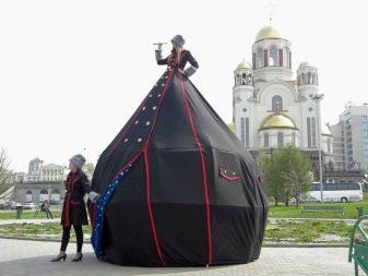 Платье-палатка черное