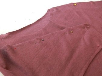 Стачивание деталей платья с рукавом летучая мышь