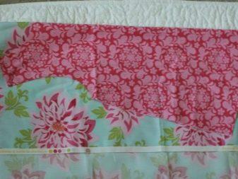 Раскрой платья для девочки 1-3 года на основной ткани