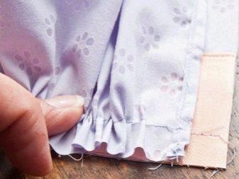 Притачивание оборок на платье - шаг 1