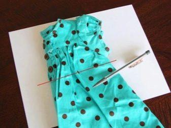 Обведение майки для выкройки платья