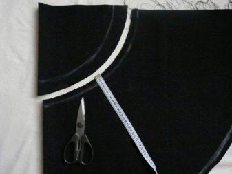 Раскрой юбки полусолнце (конической юбки) на молнии