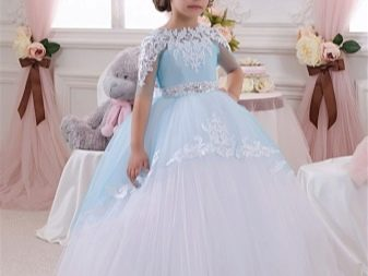 Шикарное  свадебное пышное платье с кружевом для девочки