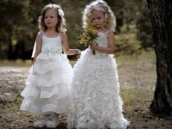 Шикарное  свадебное пышное платье в пол для девочки