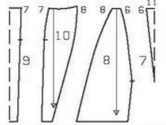 Платье-футляр в стиле колор блокинг своими руками - выкройка юбки