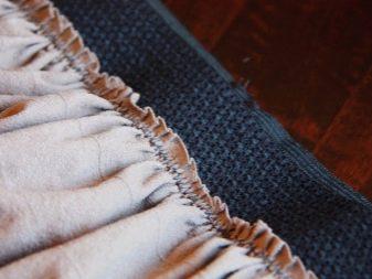 как пришить резинкку к юбке