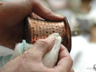 Чем очистить медные изделия