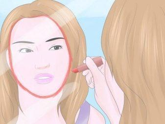 Макияж для круглого лица брюнетки