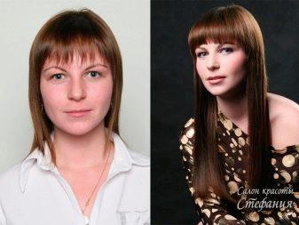 нарощенная челка фото до и после что иконе изображаются