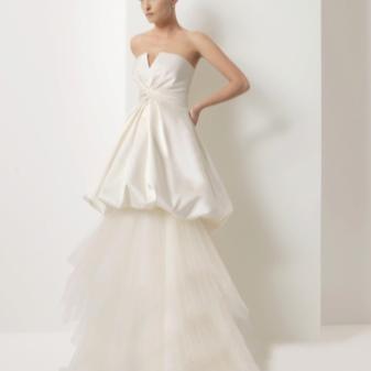 Свадебное платье-трансформер со съемной юбкой из тюли