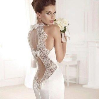 Свадебное платье от Tarik Ediz с открытой спиной