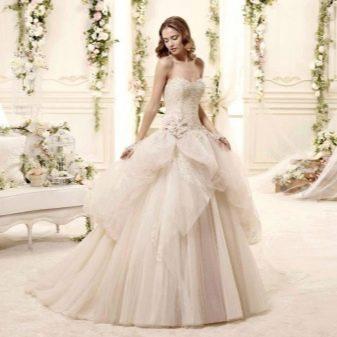 Свадебное платье пышное с юбкой абстрактной формы