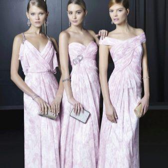 Нежные розовые платья для подружек невесты
