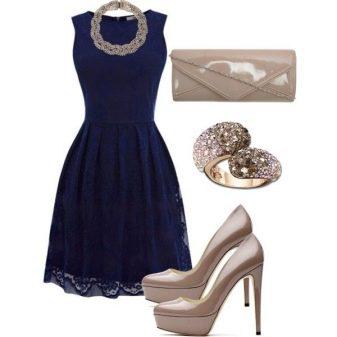 Обувь для синего вечернего платья