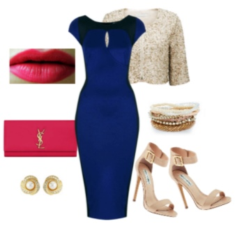 Обувь для синего вечернего платья жемчужного цвета