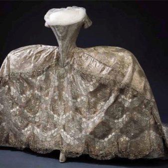 Свадебное платье из кружева 18 век