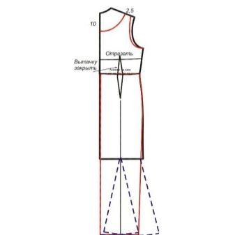 Моделирование спинки вечернего платья русалка