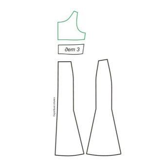 Моделирование пояса вечернего платья русалка