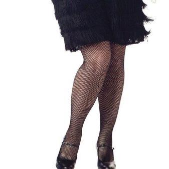 Кожаные черные туфли к платью в стиле Гэтсби