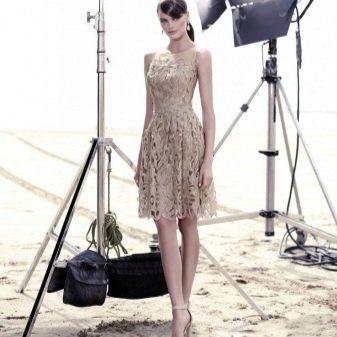 Платье телесного цвета кружевное