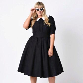 Платье с юбкой полусолнце для полных женщин