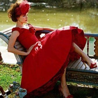 Красное платье в стиле стиляг