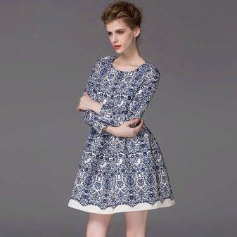 Модное платье с многослойной юбкой 2016