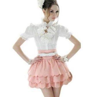 Многослойная юбка - длина