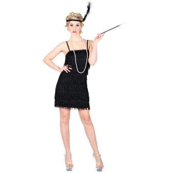 Черное платье с бахромой в стиле Чикаго