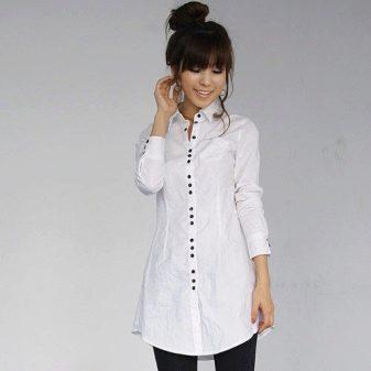 2c46f2f26733414 Удлиненная женская рубашка как платье – это вариант для смелых и ярких  женщин.