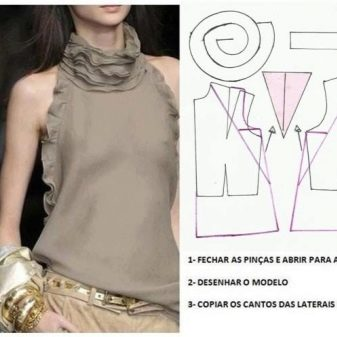 70b0f8d9643 Выкройка блузки простого кроя  пошив