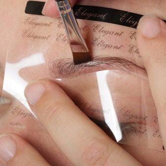 Как правильно делать брови по трафарету