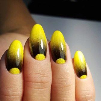 Гель лак дизайн на длинные ногти