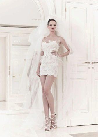 Короткое свадебное платье от З. Мурада