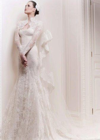 Болеро для кружевного свадебного платья