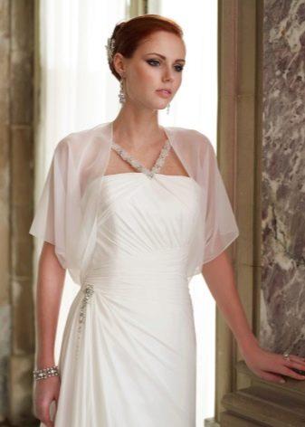 Болеро из шифона для свадебного платья для венчания