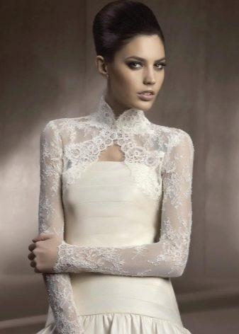 Ажурное болеро для свадебного платья