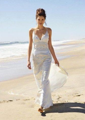 Свадебное прямое пляжное платье