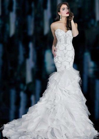Сексуальное свадебное платье русалка