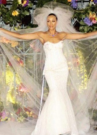 Самое дорогое свадебное платье Русалка со шлейфом в мире