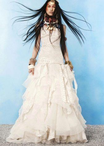 Свадебное платье в цыганском бохо стиле