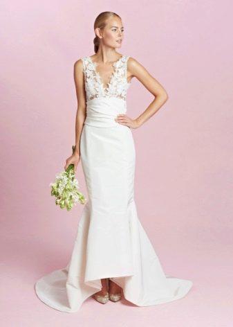 Свадебное платье с кружевным верхом от Oscar de la Renta